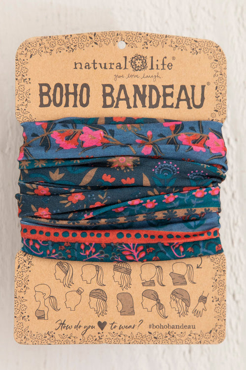 Midnight Floral Boho Bandeau - Natural Life