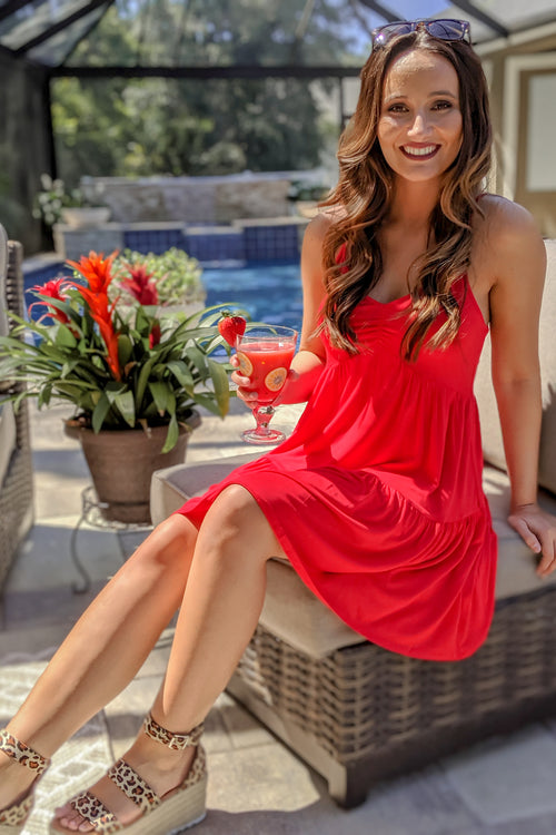 Be Your Babydoll Dress - Indie Red