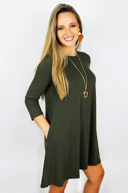 Never Too Casual Sweater Dress