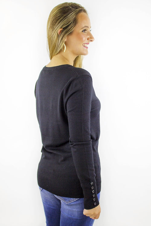 Better Basics Round Neck Sweater - Black