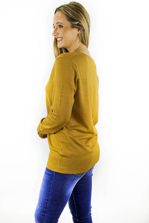 Better Basics V-Neck Sweater - Coffee