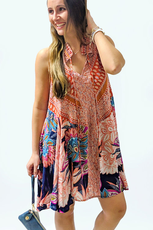 Bohemian Breeze Dress - Floral Print