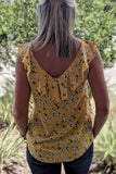 Brighter Fields Floral Print Top - Yellow