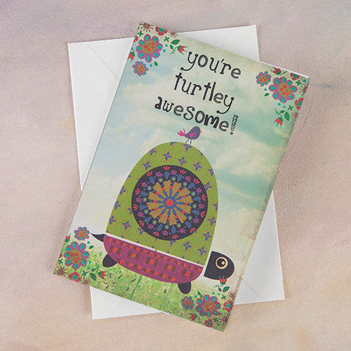 """You're Turtley Awesome"" Greeting Card"