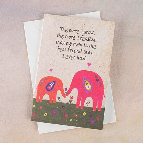 """The More I Grow"" Greeting Card"