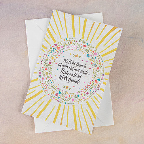"""We'll be Friends"" Greeting Card"