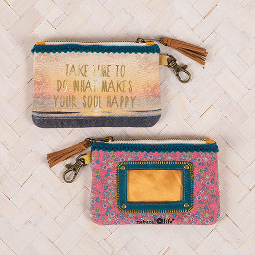 """Take Time"" ID Pouch"