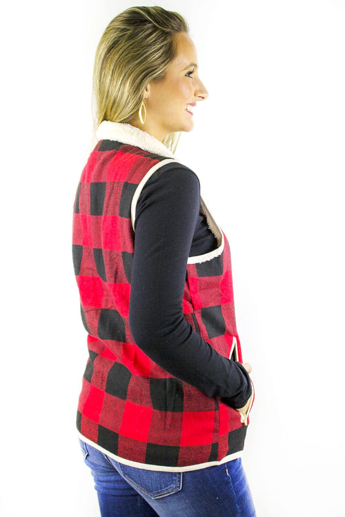 Campfire Bliss Vest - Red