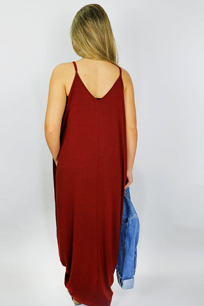 Casually Chic Maxi Dress - Fired Brick
