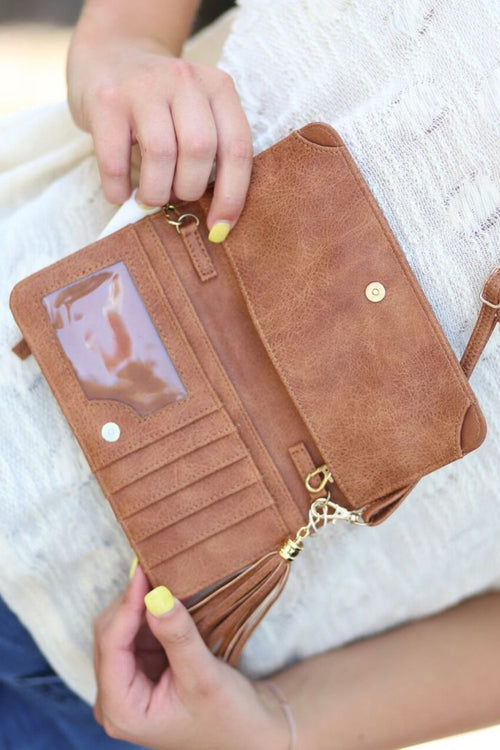 Cellphone Wallet/Wristlet - Distressed Camel