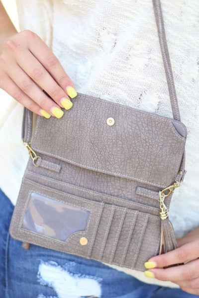 Cellphone Wallet/Wristlet - Distressed Taupe
