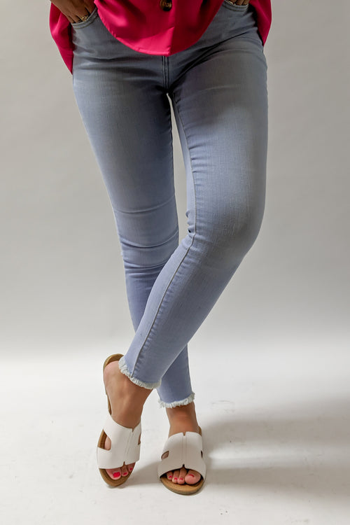 Christina Cropped Skinny Jeans - Lt. Denim