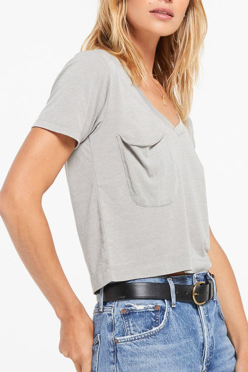 Z Supply: Classic Skimmer Crop Tee - Dusty Sage