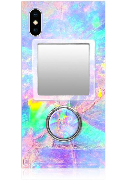 Clear Lucite Square Phone Mirror - iDecoz