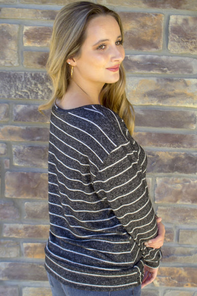 Comfort is Key Striped Sweater