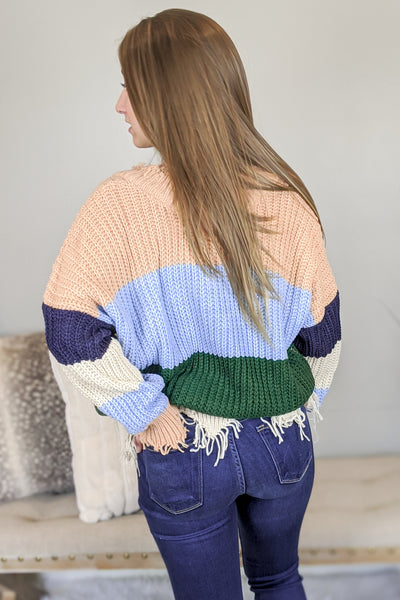 Cozy in Retro Sweater - Multi
