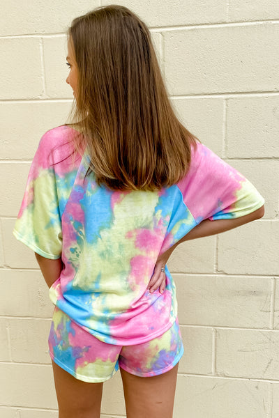 Daydreams of You Tie-Dye Print Knit Tee - Multi