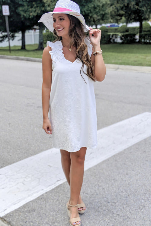 Do It for the Frill Sleeveless Dress - Ivory