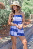 Drawn to the Water Tie-Dye Romper - White/Blue