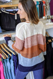 Dreamer at Heart Color Block Sweater - Ivory Combo