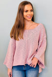 Dreams Like This Scoop Neck Long Sleeve Sweater - Lavender