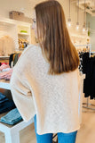 Dreams Like This Scoop Neck Long Sleeve Sweater - Natural