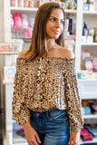 Drive Me Wild Leopard Print Top - Taupe