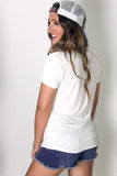 Easy Breezy V-Neck Tee - Off White