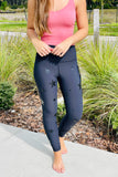 Evelyn Foil Star High Waist Leggings - Black