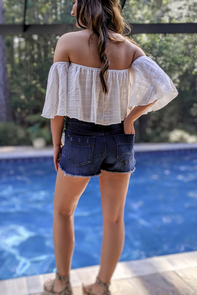 Feeling the Breeze Crop Top - Ivory