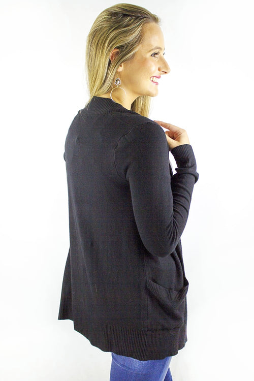 Fireside Glow Cardigan - Black