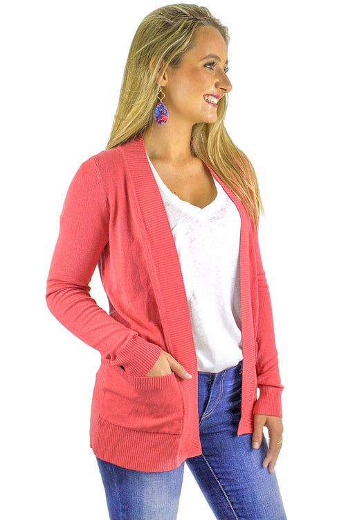 Fireside Glow Cardigan - Poppy