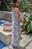 Floral Adventures Maxi Dress - Gray