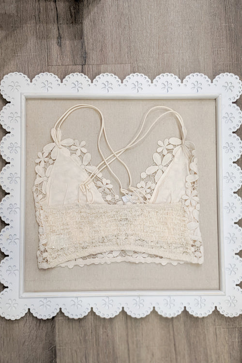 Floral Lace Bralette - Ivory