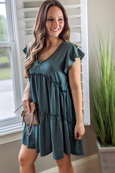 Sweet Promises Dress - Khaki