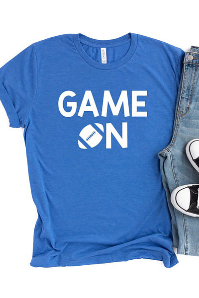 """Game Day"" Graphic Tee - Royal Blue"