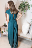 Graceful Elegance Woven Jumpsuit - Sea Green