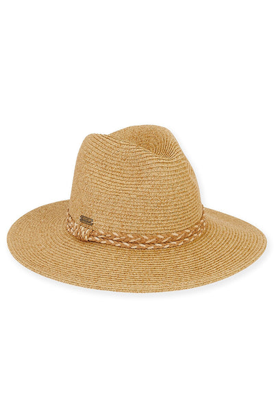 The Sadie Paper Braid Safari Hat - Tan