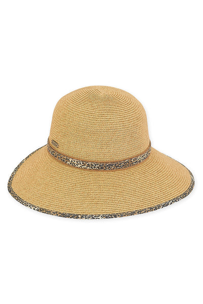 The Mia Paper Braid Backless Hat - Tan