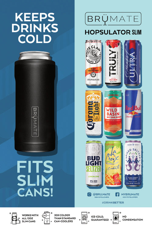 BruMate: Hopsulator Slim | Blush (12oz Slim Cans)