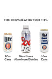 BruMate: Hopsulator Trio 3-in-1 | Glitter White (16oz/12oz Cans)