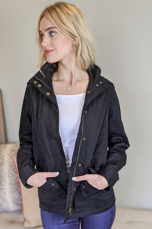 Hear the Call Utility Jacket - Black