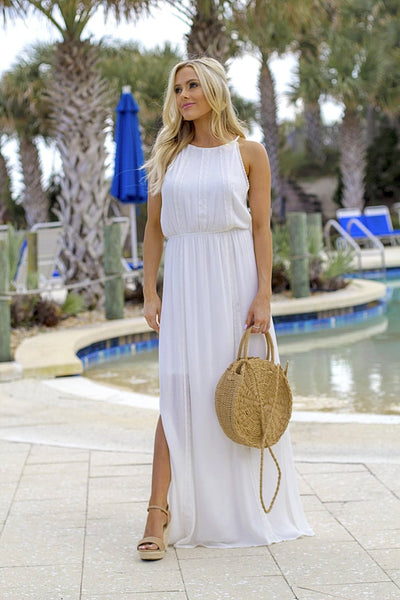 Holding Out Hope Maxi Dress - White