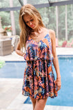 Hot Tropics Printed Sleeveless Dress - Dark Navy