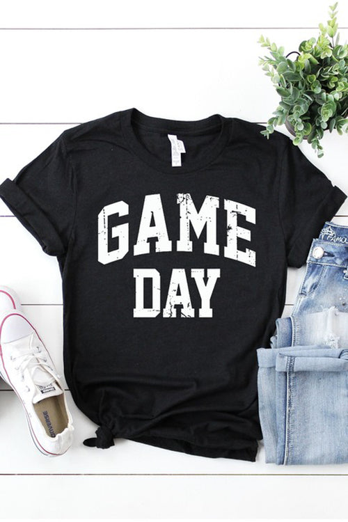 """Game Day"" Graphic Tee - Black"