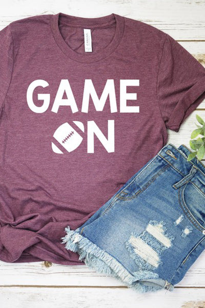 """Game On"" Graphic Tee - Heather Plum"
