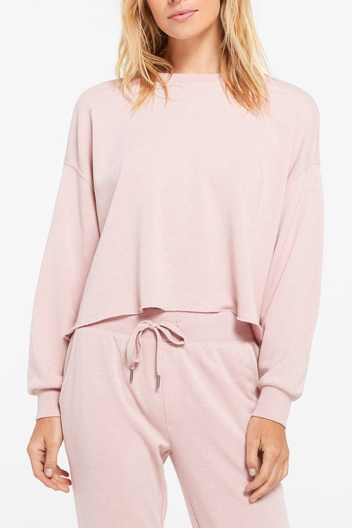 Z Supply: Izzy Loop Terry Pullover - Pink Blossom