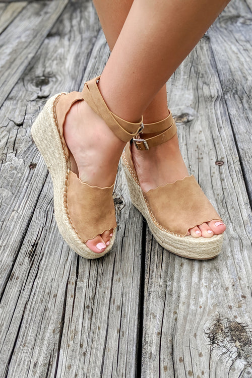 Jamie Espadrille Wedge - Tan