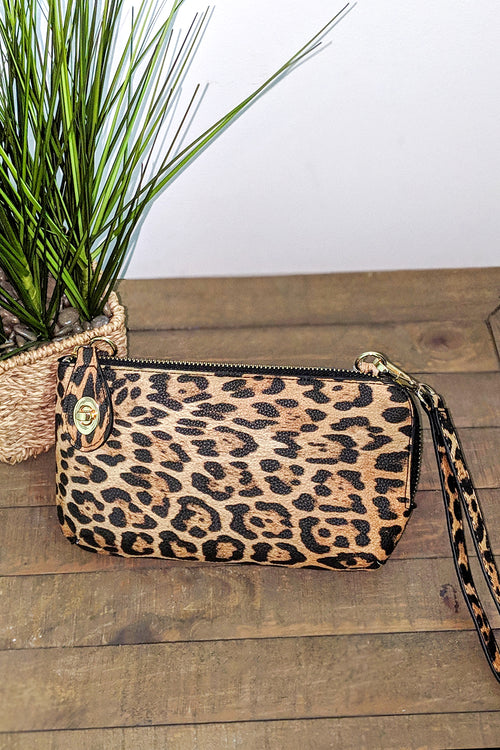 Jenny Leopard Print Cross Body Bag - Yellow