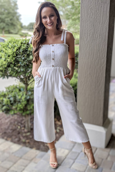 Pure Sweetness Sleeveless Jumpsuit - Off White